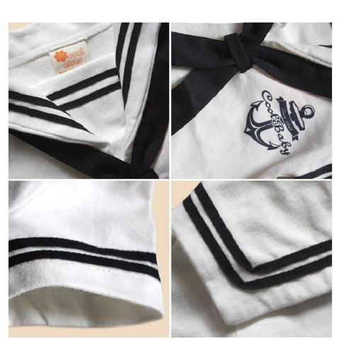 Adorable Sailor Baby Romper