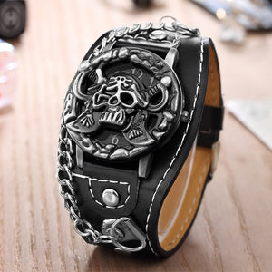 Novelty Pirate Leather Watch