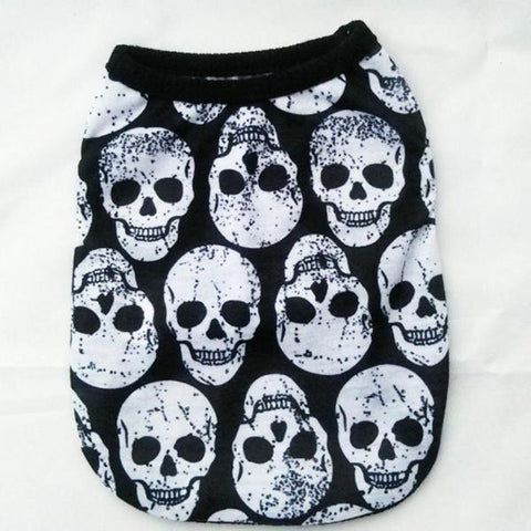 Image of Skull Print Pet Romper