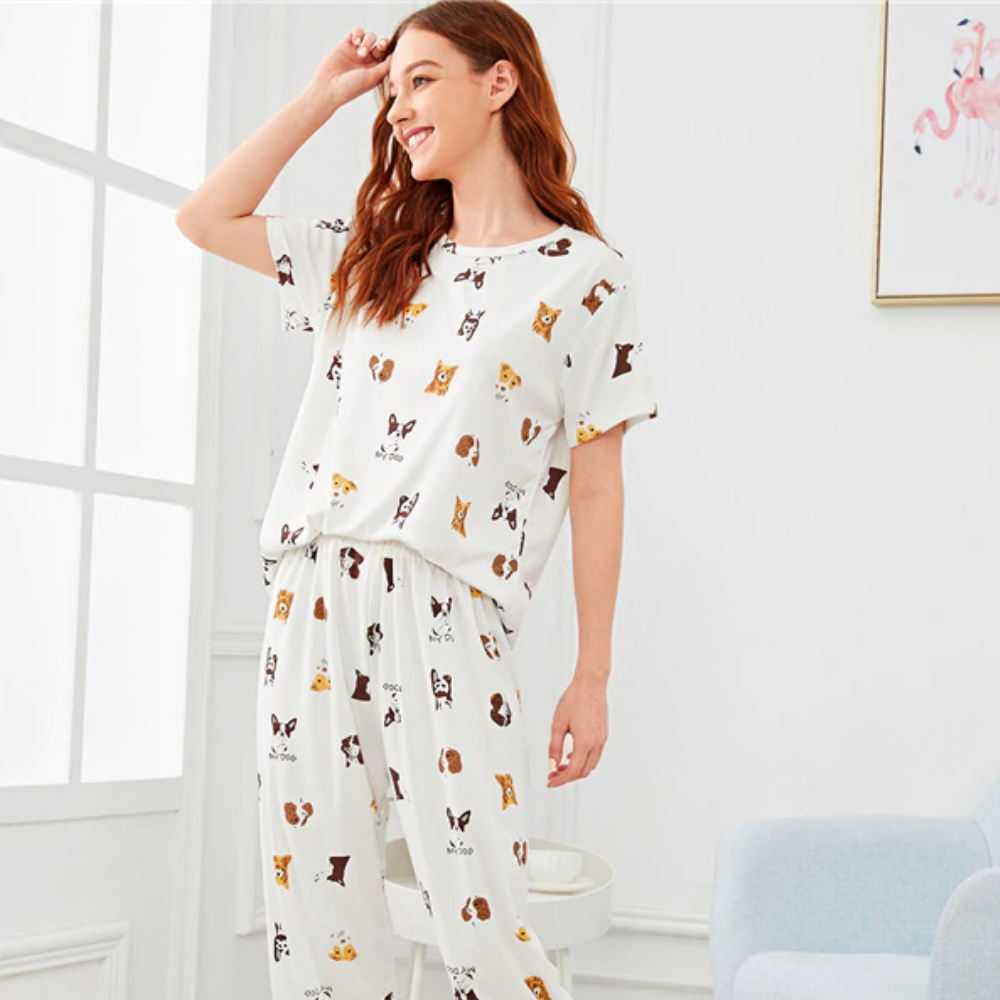 Snug Dog Print Loungewear