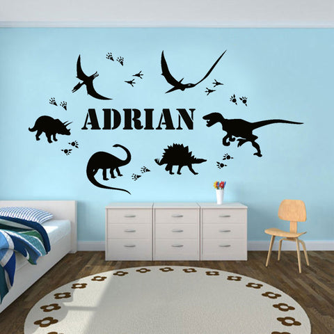Image of Personalized Dinosaur Wall Sticker