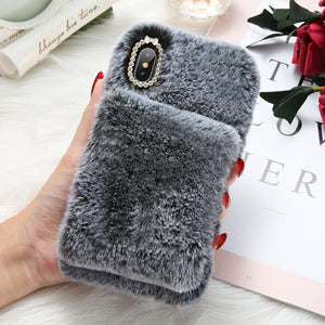 Faux Fur Wristband iPhone Case