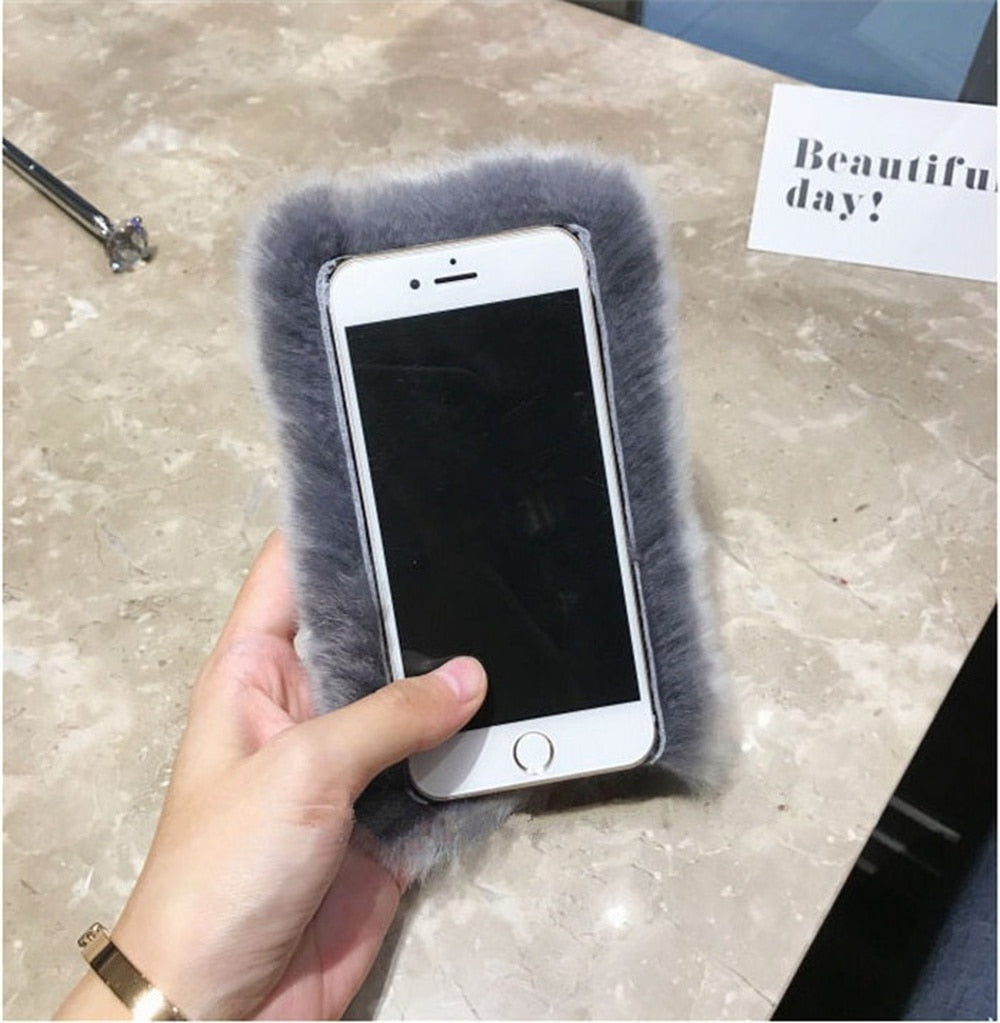 Luxurious Furry iPhone Case