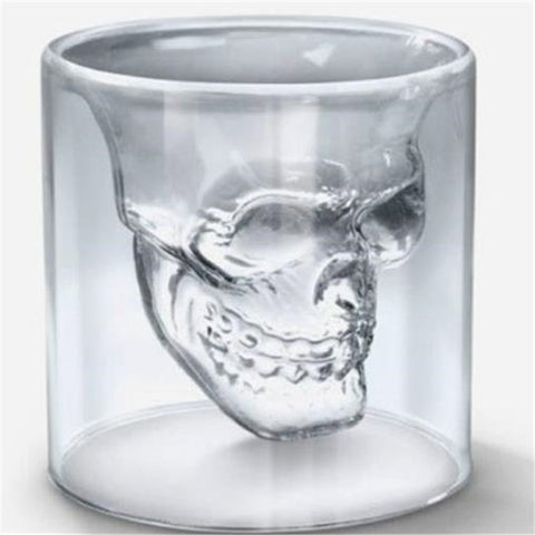 Image of Glass Skull Mug