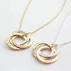 Minimalist Linked Circles Necklace