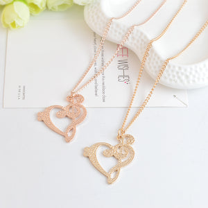 Charming Musical Clef Heart Necklace