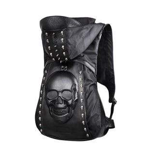 Premium Leather 3D Skull Bag