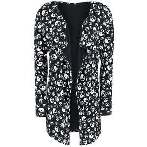 Casual Knitted Skull Cardigan