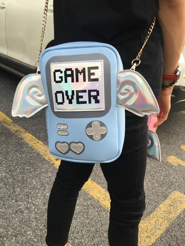 Image of Stylish 'Game Over' Chain Bag