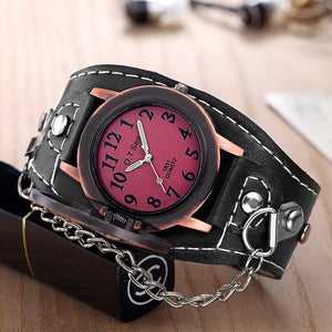 Novelty Skull Leather Watch