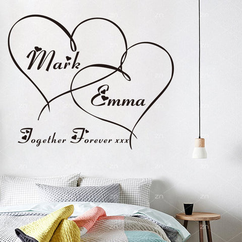 Image of Personalized Couple Wall Sticker