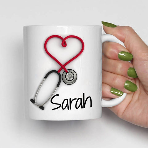 Image of Personalized Stethoscope Coffee Mug
