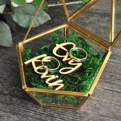Image of Customised Modern Ring Holder