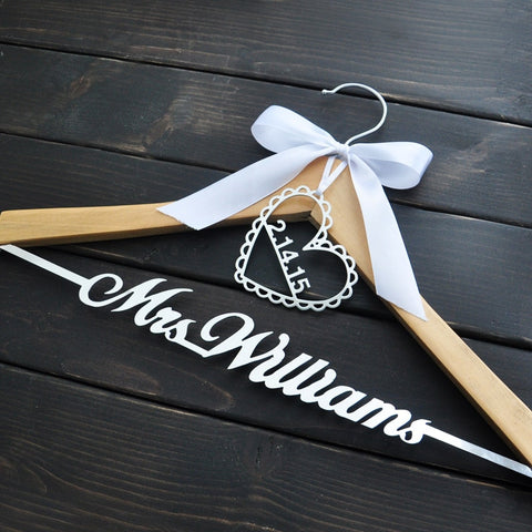 Contemporary Customised Wedding Hanger