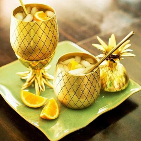 Image of Pineapple Copper Cocktail Cups