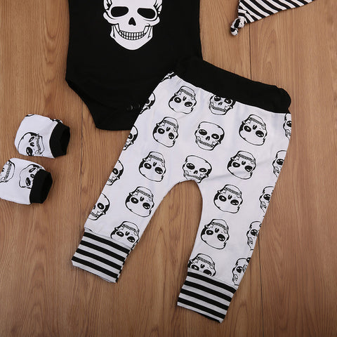 Monochrome Baby Skull Outfit