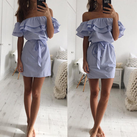 Ruffle Off-Shoulder Summer Dress