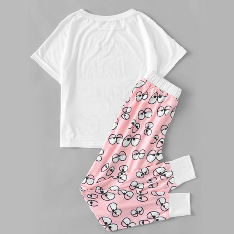 Cute Cartoon Loungewear Set