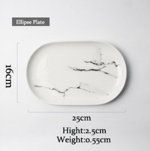 Classic Marble Dinnerware Collection