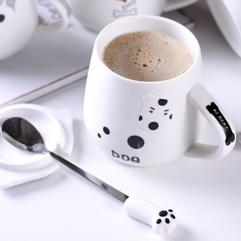 Image of Adorable Cartoon Dog Mug