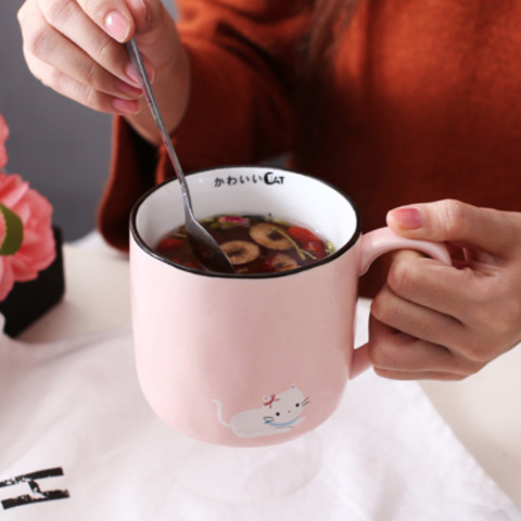 Kawaii Cat Breakfast Mug