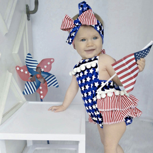 Baby Stripes and Stars Romper