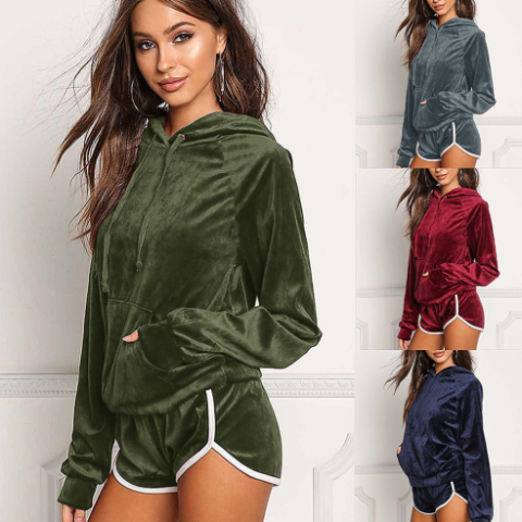 Image of Velvet Loungewear Suit
