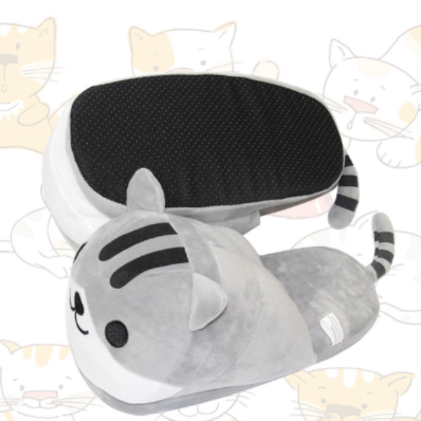 Comfy Kitty Plush Slippers