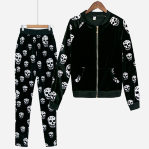 Image of Skull Velvet Suit