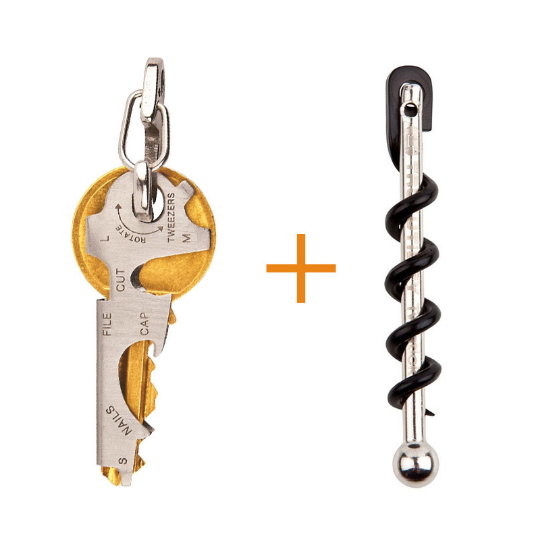 8in1 Keychain MultiTool + Pocket Corkscrew