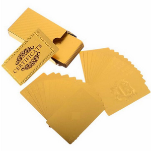 Luxurious 24K Gold Poker Cards
