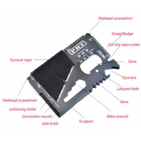 14 in 1 Survival Credit Card