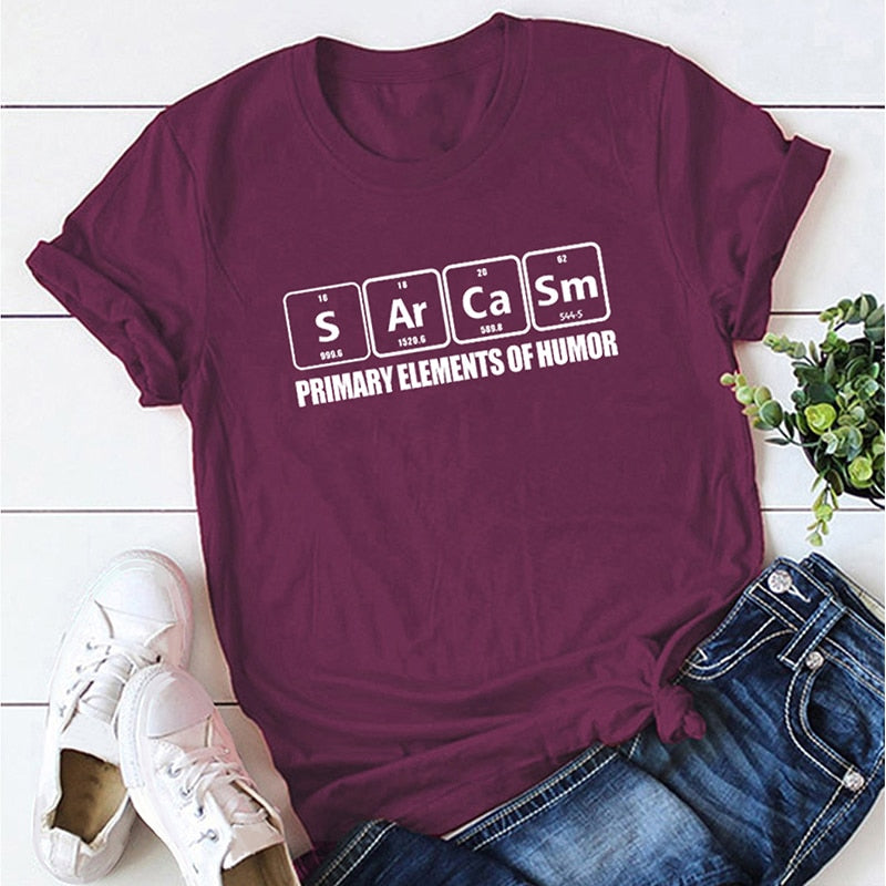 Sarcasm Chemistry Elements Graphic Tee