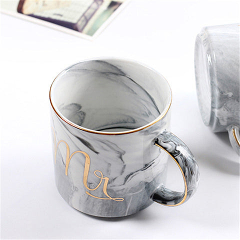 Image of Luxury Watercolor Couple Mugs