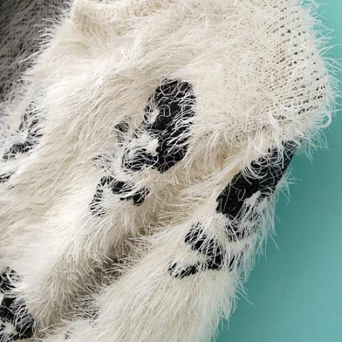 Image of Mohair Knitted Skull Cardigan