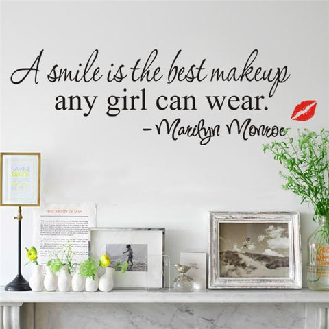 Image of Marilyn Monroe Wall Sticker Quote