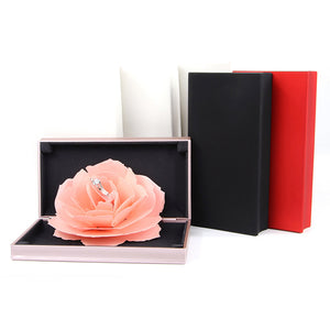 Elegant Pop Up Rose Ring Box
