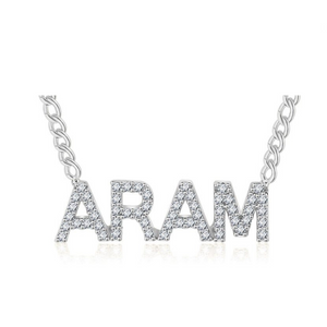 Bejeweled Personalized Name Necklace