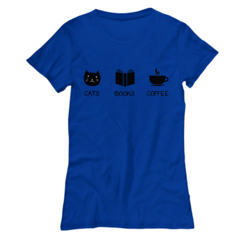 Cats Books Coffee Tshirt (Nine Yards Exclusive)