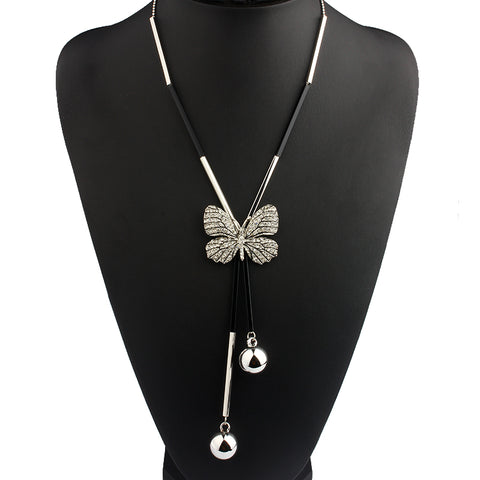 Image of Elegant Butterfly Necklace