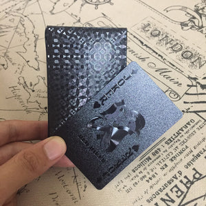 Black Embossed Poker Cards