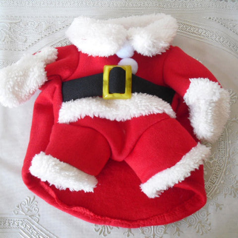 Image of Funny Santa Cat Costume