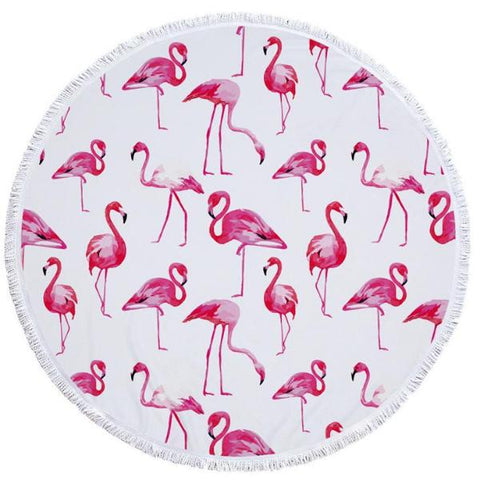 Flamingo Graphic Beach Towel