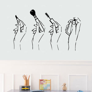 Stylish Makeup Wall Sticker