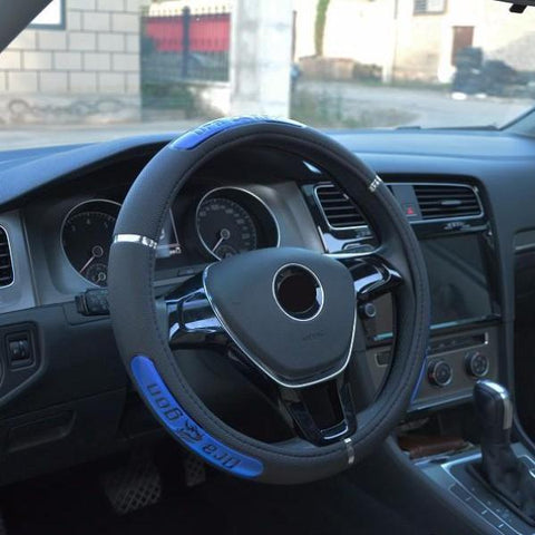 Image of Leather Steering Wheel Cover