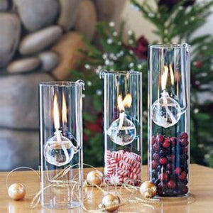 Decorative Glass Oil Lamp