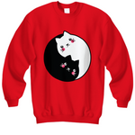 Yin Yang Cats Sweatshirt (Nine Yards Exclusive)