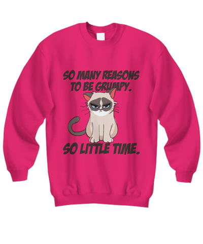 Little Time, Grumpy Cat Sweatshirt (Nine Yards Exclusive)