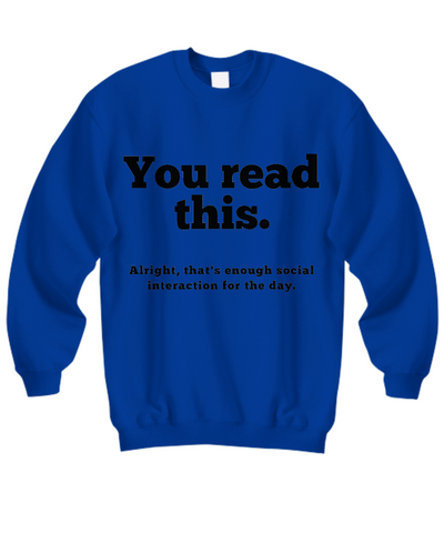 Image of Anti-Social Sweatshirt II (Nine Yards Exclusive)