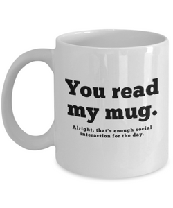 Anti-Social Mug (Nine Yards Exclusive)